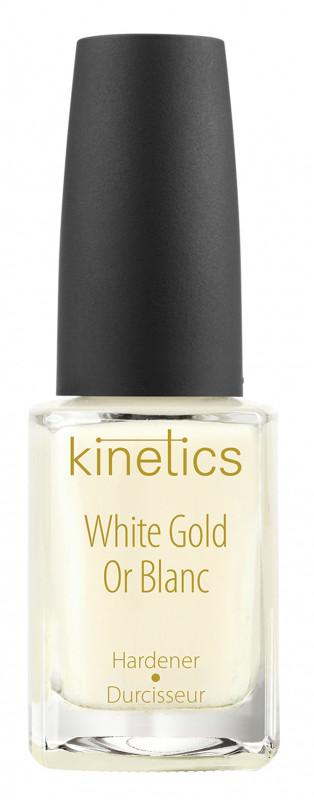Kinetics Kinetics - White Gold Hardener - Wzmacniająca odżywka do paznokci - Białe Złoto KINGWDBZL