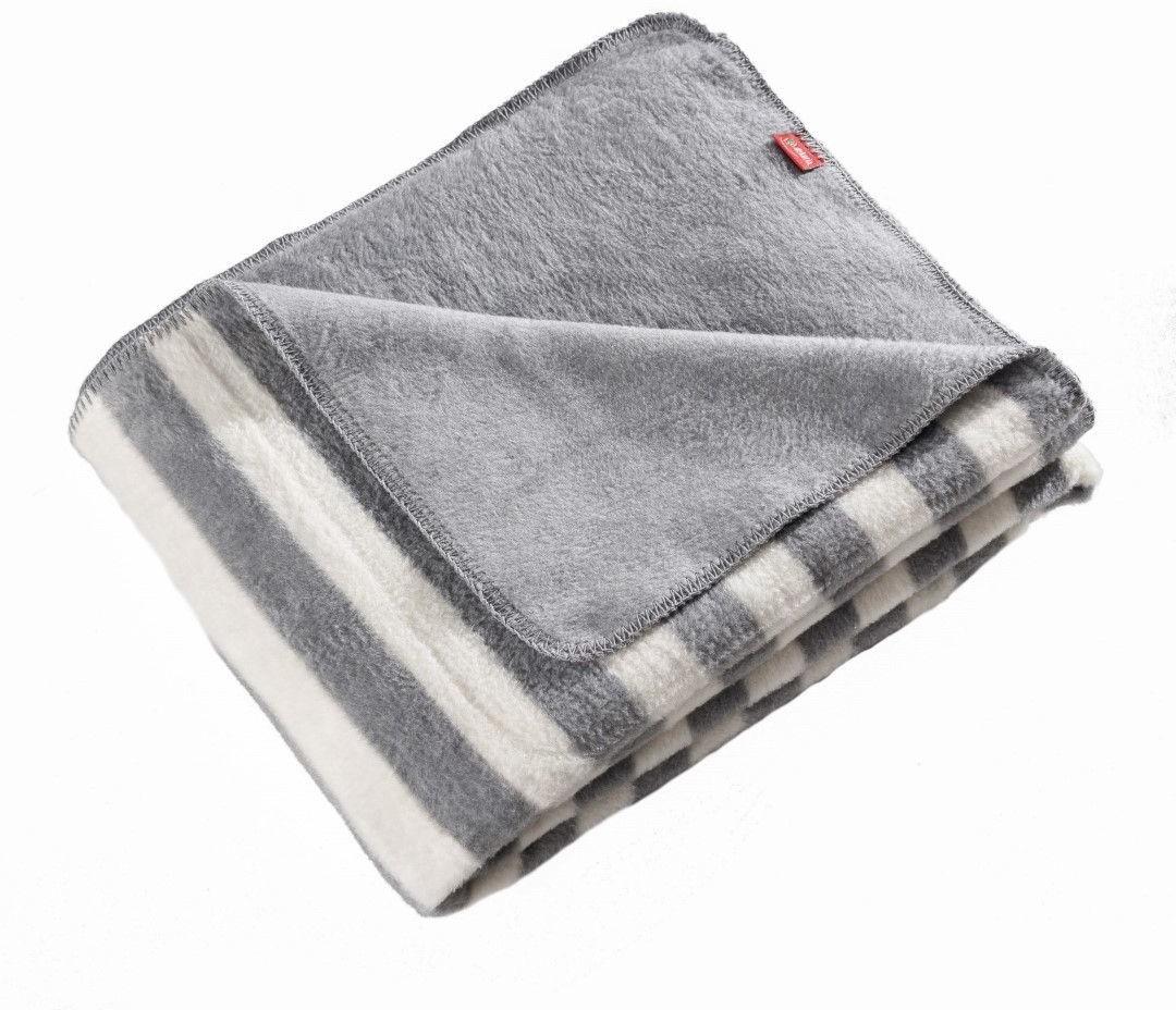 Dekoria Koc Cotton Cloud 150x200cm Gray Stripes 150x200cm 760-116