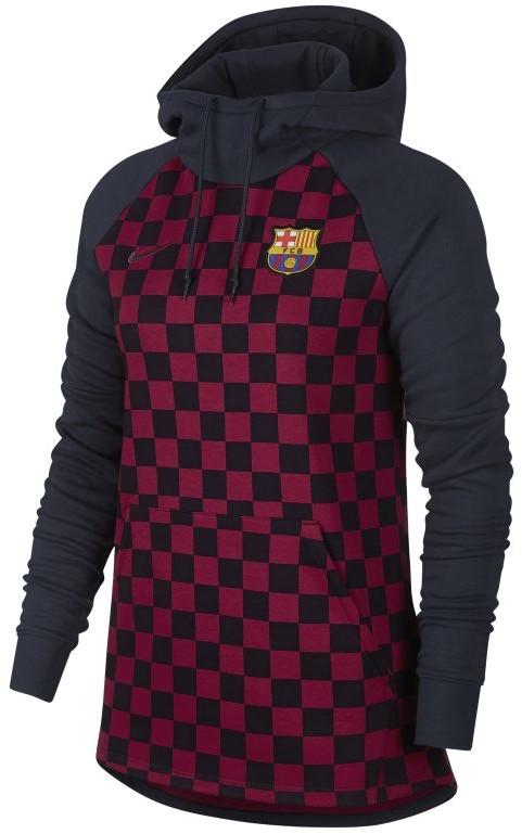 Nike Damska dzianinowa bluza z kapturem FC Barcelona AT4475-451
