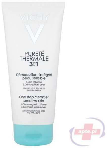 Vichy wrażliwa Purete Thermale preparat do demakijażu twarzy i oczu 3w1 300ml