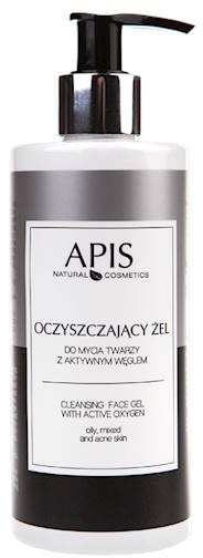 APIS Professional APIS Oczyszczający Żel do Mycia Twarzy z Aktywnym Węglem 300ml AP53605
