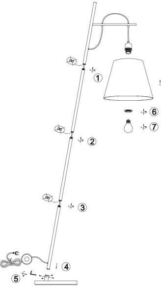 Trio Stojąca LAMPA podłogowa ANDREUS 407500189 salonowa OPRAWA metalowa biała 407500189