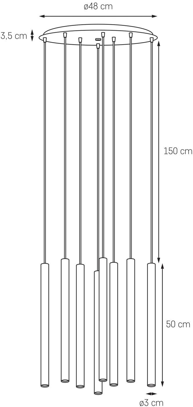 Kaspa Lampa wisząca Roll 3 czarna 10716802