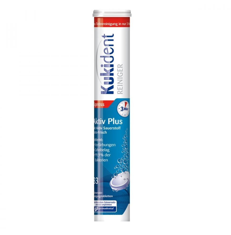 Reckitt Benckiser Healthcare Deutschland Kukident Aktiv Plus Tabs tabletki do czyszczenia protez 33 szt.