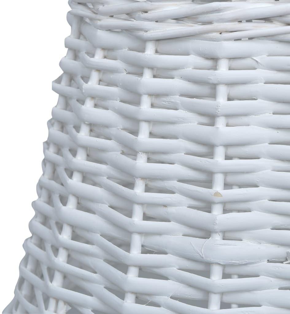 vidaXL vidaXL Wiklinowy klosz, 40x26 cm, biały