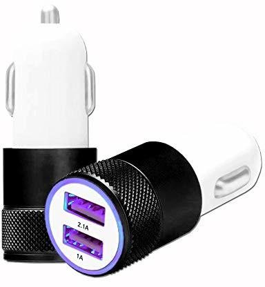 Asus Unbekannt Zenfone 4 ZE554KL S660 ładowarka samochodowa, USB, podwójne porty, bardzo szybki, USB X2, 12/24 V, czarna AllumCig-NOIR_0353