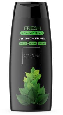 Gabriella Salvete Gabriella Salvete Energy 4Men Fresh 3in1 żel pod prysznic 250 ml dla mężczyzn