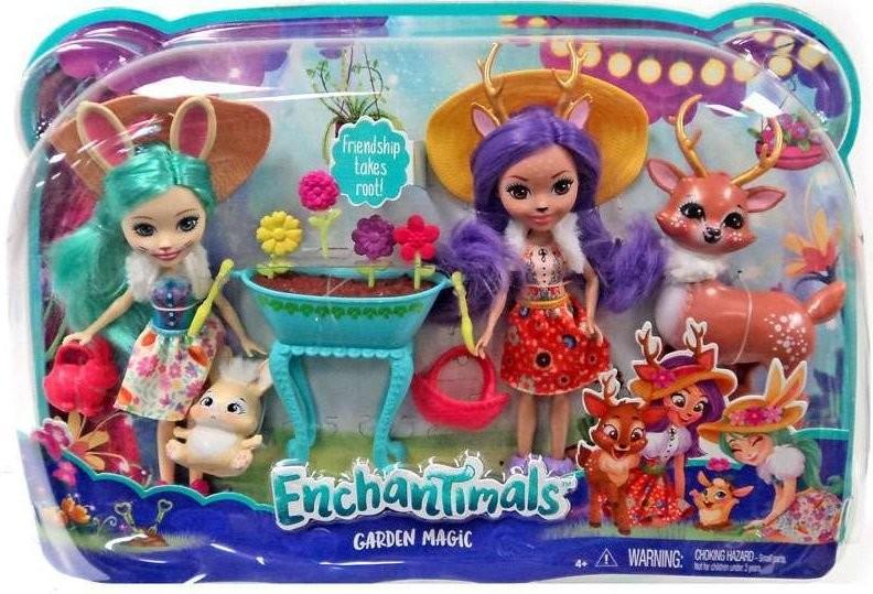 Mattel Enchantimals Dwupak Lalki ze Zwierzątkami FDG01