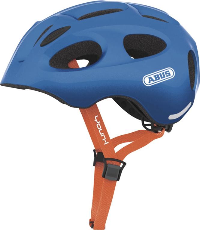 Abus Youn-I 12815-8 Kask Rowerowy, Niebieski (Sparkling Blue), 4854 Cm