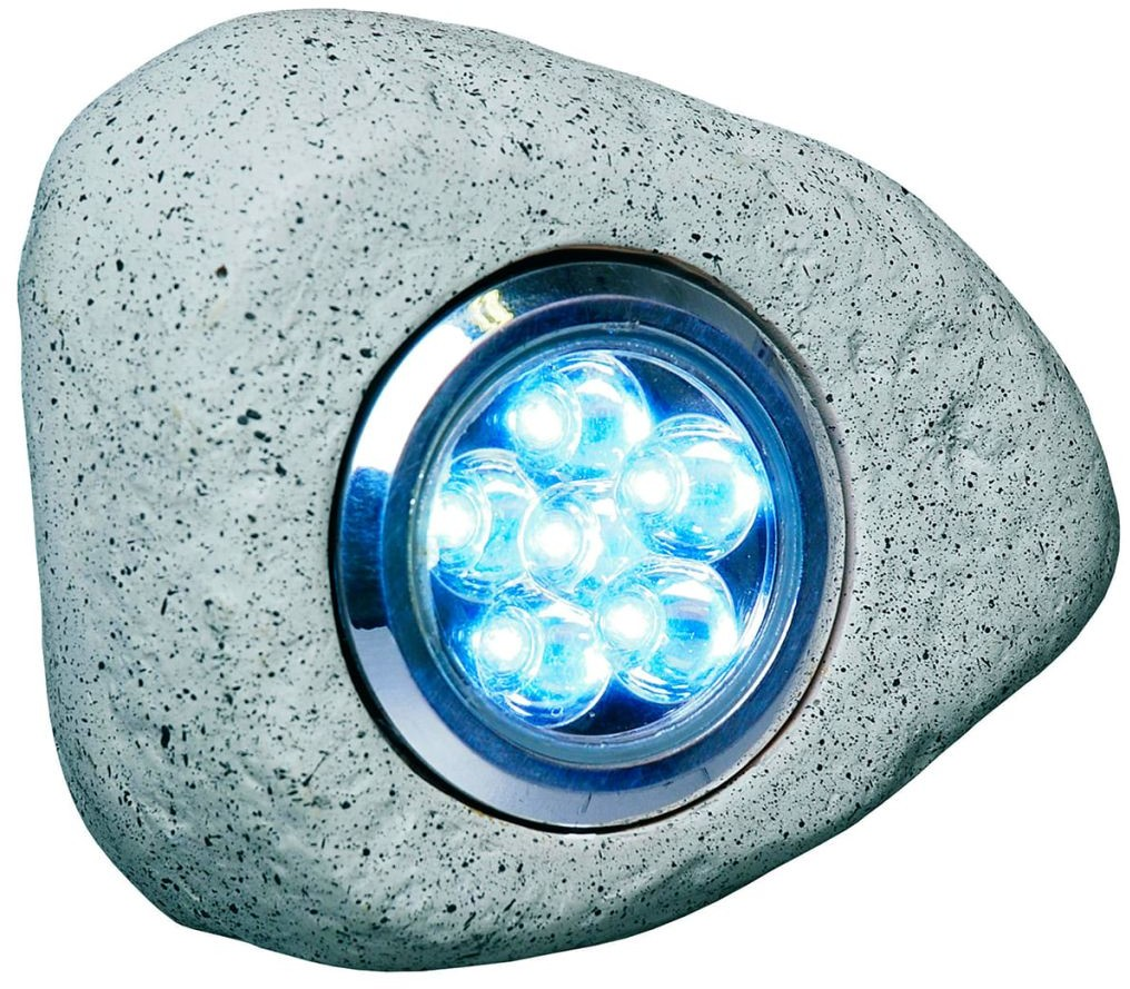 Smartwares SMARTWARES SMARTWARED Lampa ogrodowa w kształcie kamienia, 3 szt., 2,7 W, szara (10.042.48)