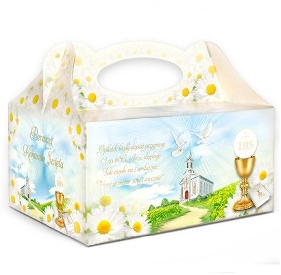 Dekoracjepolska Pudełko na ciasto komunijne PUDKW PUDKW