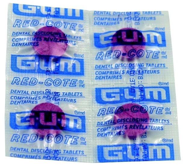 GUM Sunstar Butler RED COTE Tabletki do wybarwiania płytki nazębnej 4szt.