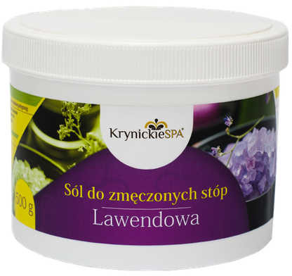 KrynickieSPA Bio-life cosmetics sól do zmęczonych stóp lawendowa 500 g
