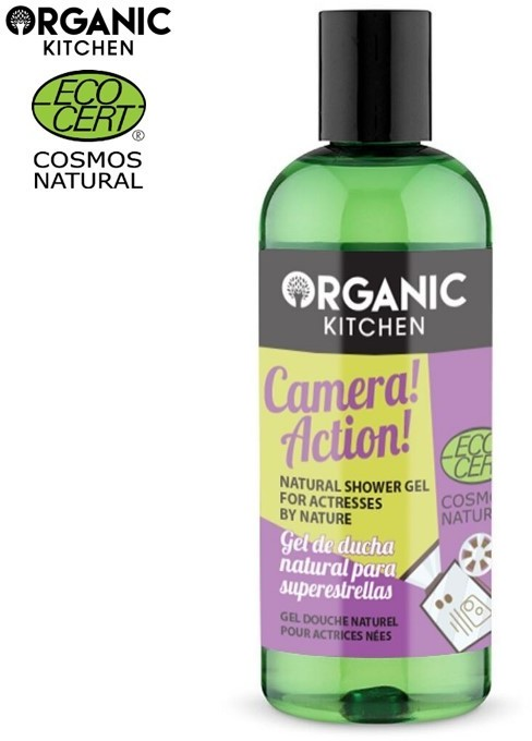 Organic KITCHEN KITCHEN Naturalny żel pod prysznic APARAT FOTOGRAFICZNY! AKACJA! 260 ML
