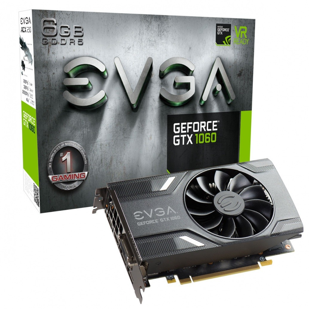 Evga GeForce GTX 1060 SuperClocked VR Ready (06G-P4-6163-KR)