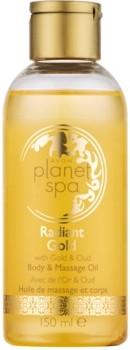 Avon Planet Spa Radiant Gold rozświetlająco połyskujący olejek do ciała i masażu 150 ml