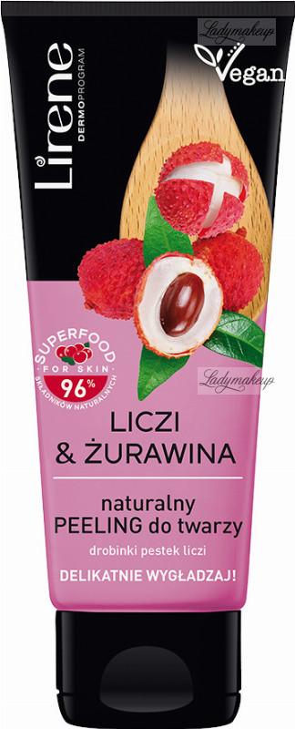 Lirene Lirene - SUPERFOOD - Naturalny peeling do twarzy - Liczi & Żurawina - 75 ml