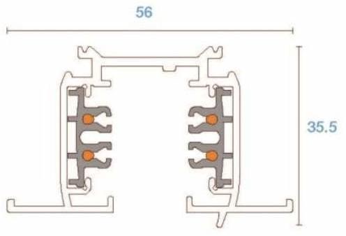 Shilo XTSF 4100 szynoprzewód wpuszczany 1m