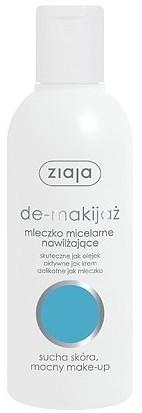 Ziaja Ziaja De-Makijaż Mleczko Micelarne Nawilżające Do Twarzy Sucha Skóra, Mocny Make-up 200ml