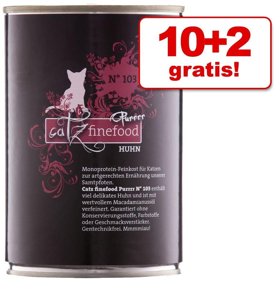 Catz Finefood Purrrr w puszkach, 12 x 400 g / 375 g - Zestaw mieszany 12 x 400 g / 375 g
