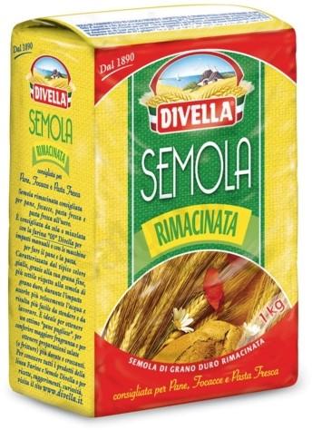 Divella Divella Semola Rimacinata - żółta mąka do wytwarzania pieczywa i makaronów (1kg) E5BE-58482_20243445