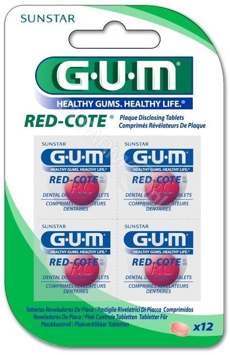 Sunstar Gum Red-Cote tabletki wybarwiające płytkę bakteryjną x 12 tabl