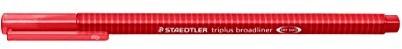 Staedtler 3382triplus braodliner trójkątny chwytem w etui z kartonu, metalizowane koronka, ok. 0,8MM, 10sztuk, czerwona 338-2
