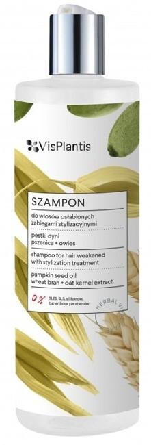 Vis Plantis Szampon do włosów osłabionych zabiegami stylizacyjnymi 400ml 36651-uniw