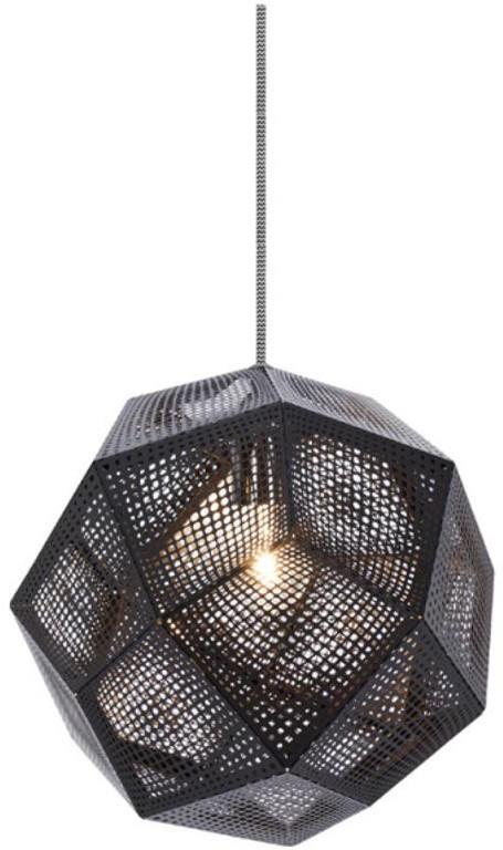 Tom Dixon Etch Shade czarny lampa wisząca HETS02BLKPEUM