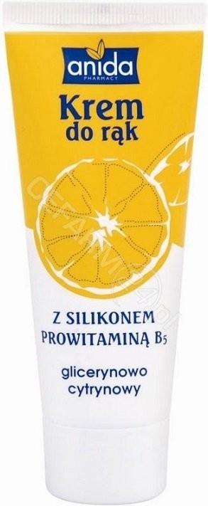 Scan Anida Krem do rąk glicerynowo-cytrynowy z silikonem i prowitaminą B5 100ml