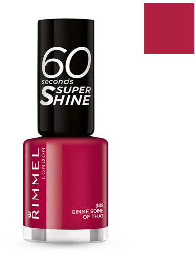 Rimmel 60 Seconds Super Shine, lakier do paznokci, 315 Queen Of Tarts, 8 ml
