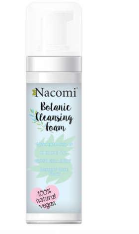 Nacomi Oczyszczająca pianka do mycia twarzy - Botanic Cleansing Foam Oczyszczająca pianka do mycia twarzy - Botanic Cleansing Foam