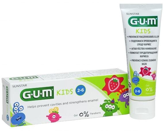 Sunstar GUM  Monster Kids pasta do zębów dla dzieci 2-6 lat
