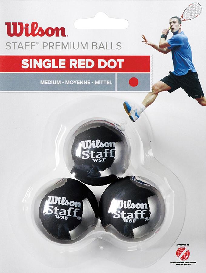 Wilson Squash 3 Ball Red Dot WRT618200