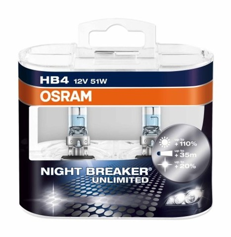 OSRAM NIGHT BREAKERR Unlimited HB4 9006NBU, P22d, 51 W, 12 V, 1 par(a)