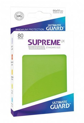 Ultimate Guard Guard Supreme UX Sleeves Standard Size Light Green (80)