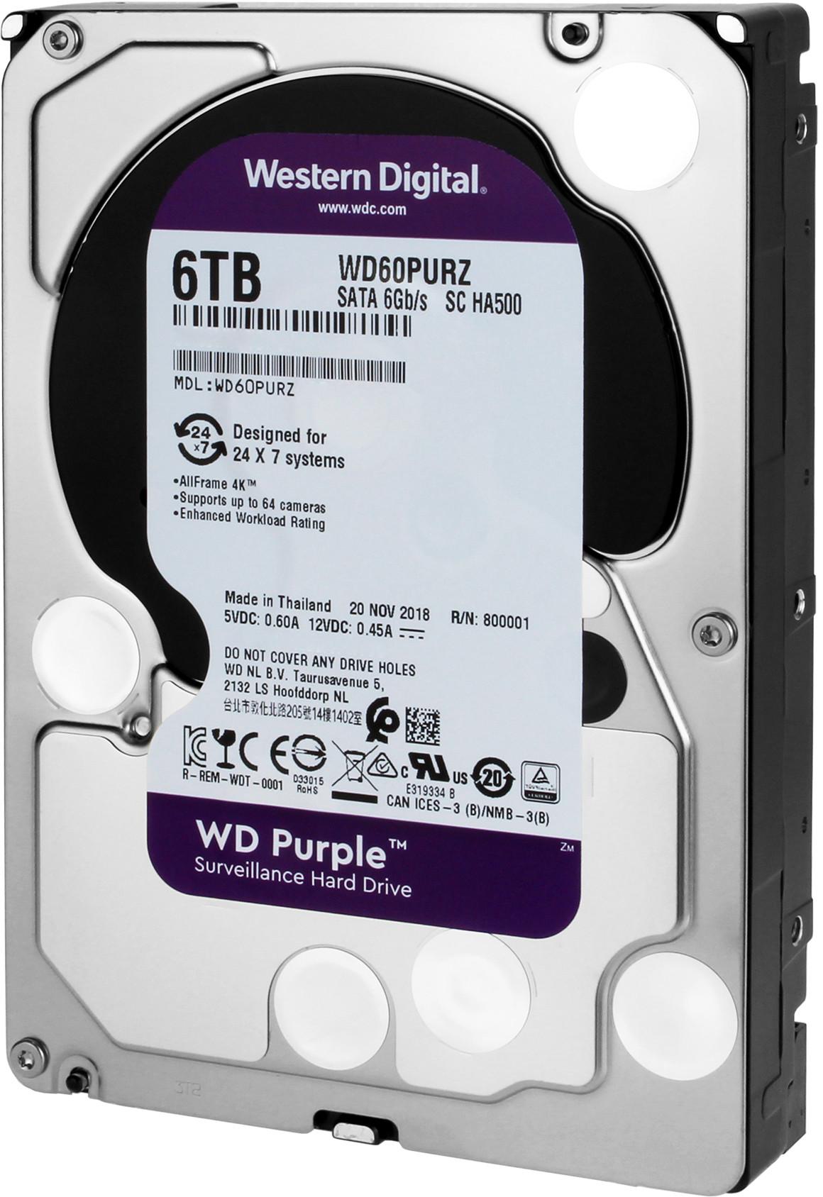 Western Digital Purple WD60PURZ 6TB