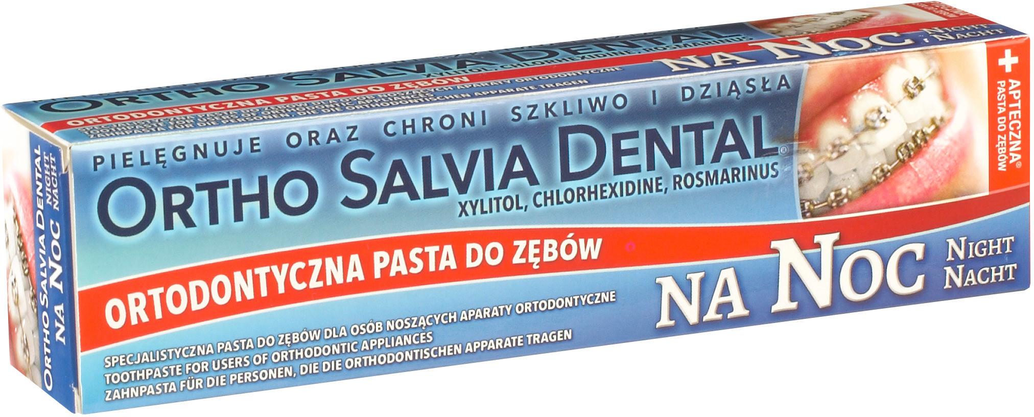 Atos Pasta do zębów Ortho Salvia Dental Noc