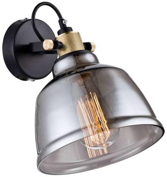 Maytoni Kinkiet LAMPA ścienna IRVING T163-01-R  szklana OPRAWA regulowana loft bursztynowa Maytoni