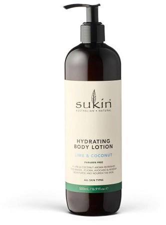 SUKIN Sukin, Nawilżające mleczko do ciała Lime and Cocon