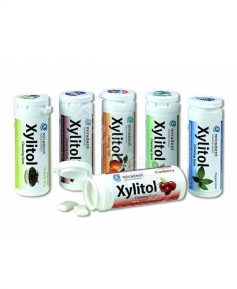 MIRADENT Xylitol Chewing Gum - Gumy do żucia przeciw próchnicy 30szt - Cynamon 9000002493