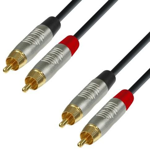 Adam Hall adam hall 4Star Series rean instrument przewód 2X RCA męski na 2X RCA męski, 6m K4TCC0600