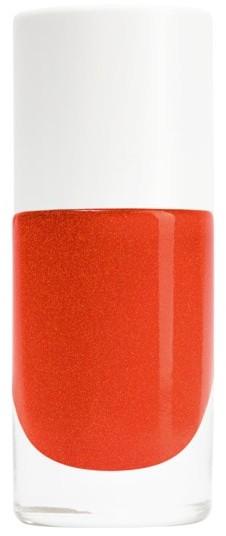 Nailmatic Nailmatic bezwonny lakier do paznokci na bazie wody CZERWONO-POMARAŃCZOWY Z POŁYSKIEM Capucine Lakier do paznokci 8ml