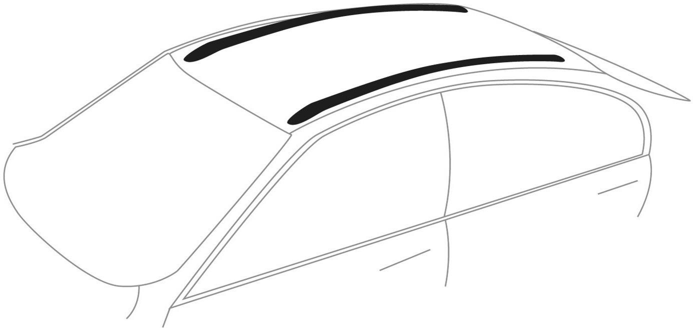 Amos Bagażnik bazowy na dach belki aluminiowe 1.2 Aero łapy Alfa ZABEZPIECZENIE 1382-uniw