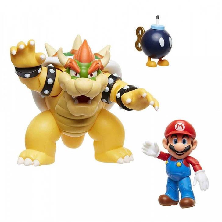 Nintendo Jakks Gadżet Ruchome Figurki Super Mario Bowsers Lava Battle Set Warszawa
