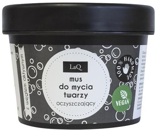 LaQ LaQ Mus do mycia twarzy z węglem aktywnym 100ml 64132-uniw