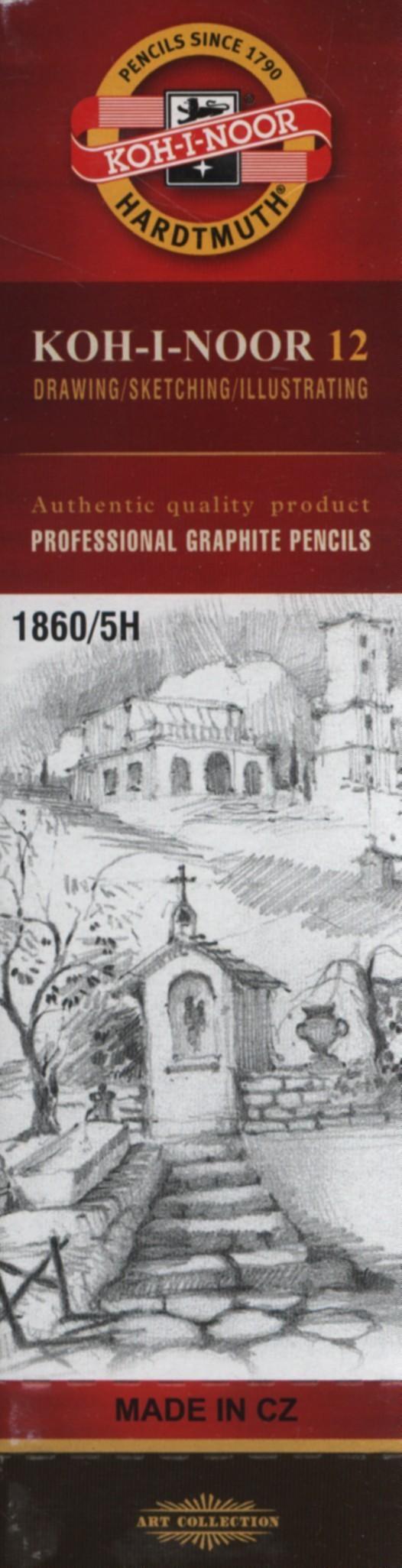 Koh-I-Noor Koh-I-Noor Ołówek grafitowy 1860/5H 12 szt
