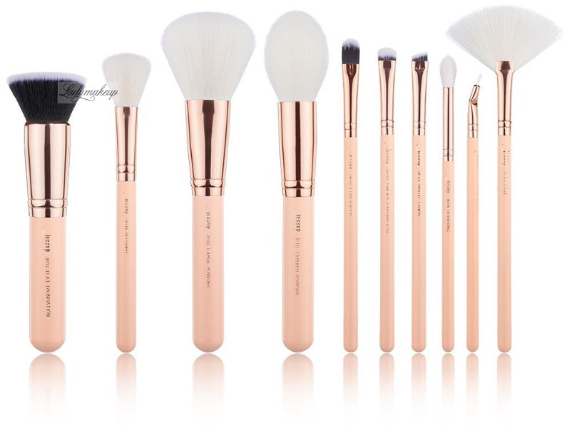 JESSUP BEAUTY JESSUP - Classics Series Brushes Set - Zestaw 10 pędzli do makijażu - T450 Peach Puff/Rose Gold JESPMPR01