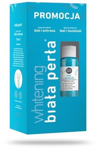 Vitaprodukt Biała Perła Whitening pasta do zębów 75 ml + płyn do płukania zębów 100 ml [ZESTAW] 7077402