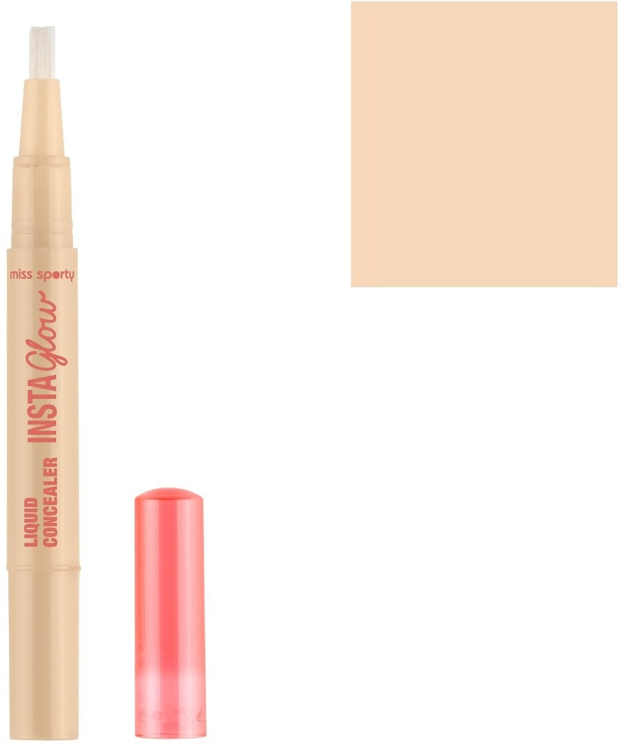 Miss Sporty Insta Glow Liquid Concealer korektor rozświetlający do twarzy 001 Radiant Light 136ml